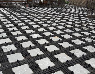 شرکت مبناساز - بهترین سقف سازه ای فوق سبک از نوع دال دوطرفه، با افزایش طول دهانه و کاهش مصرف میلگرد و بتن - سقف اینتل